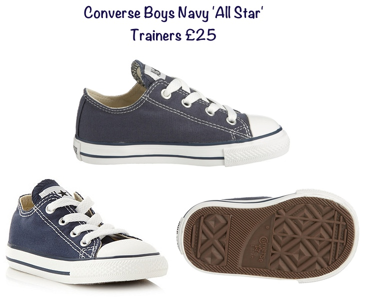 George Converse All Star Boys Trainers Navy £25 June 2015 Petting Zoo Carole