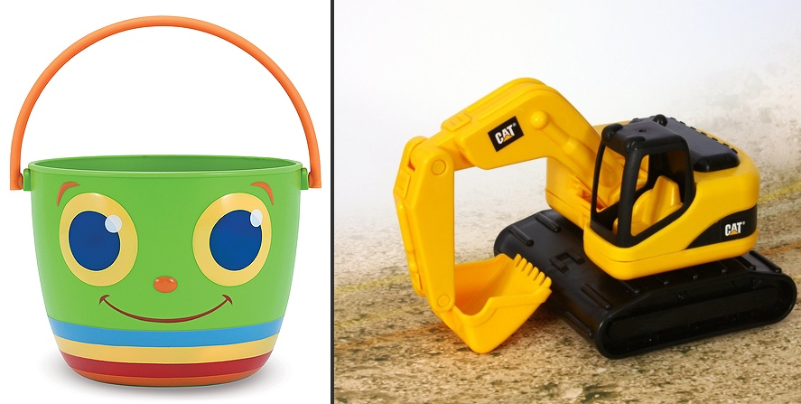 George Beach Outing Toys Happy Giddy Pail Melissa Doug Caterpillar Digger