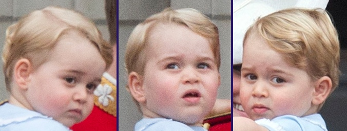 Prince George Trooping Colour 2015 Facial Expressions
