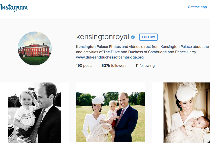 Kensington Palace Instagram
