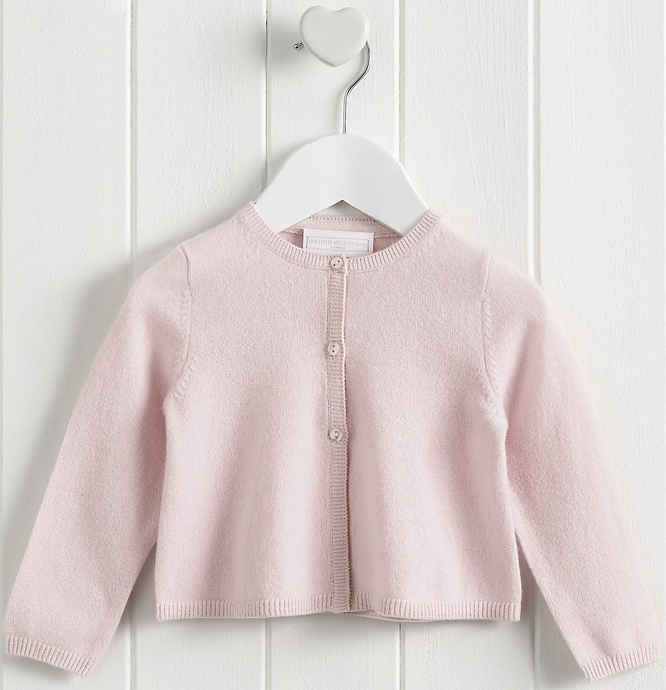 Little White Company Pink Cashmere Charlotte Cardigan Product Shot Nov 2015