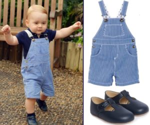 George 1st Birthday Navy White Oshkosh Petit Bateau Overalls Dungaree Navy Shirt Early Days Alex Prewalker
