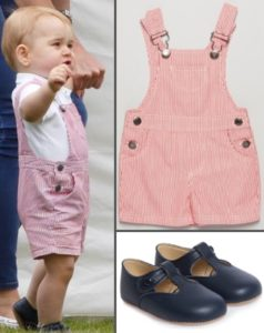 George Thumbnail Polo Red White Dungaree Overalls Shortall Father's Day June 15 2014