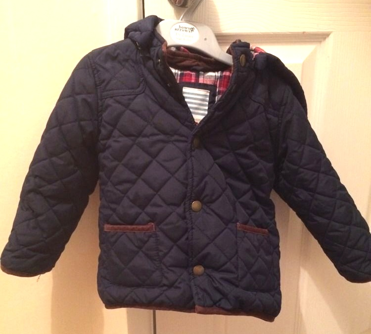 Prince George Jacket ebay Navy Puffer Quilted Pocket Elbow Trim January 6 2015