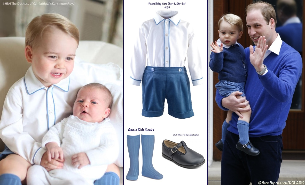 George Rachel Riley Cord Short Shirt Set Amaia Kids Socks Start Rite Montage With Charlotte and William April 19 2016