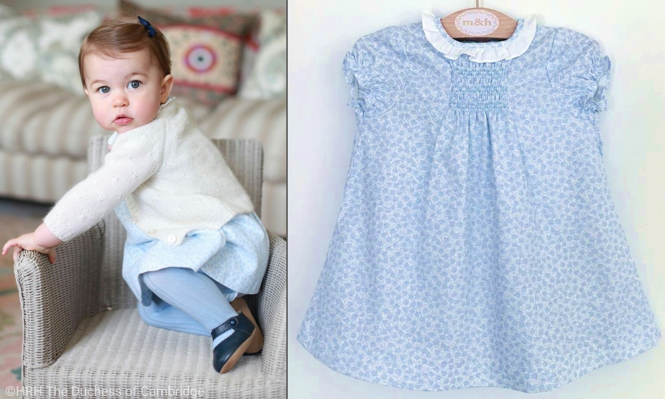 Charlotte First Birthday Pics Blue Dresss Side by Side with M H Tiendas Dress Photo May 3 2016