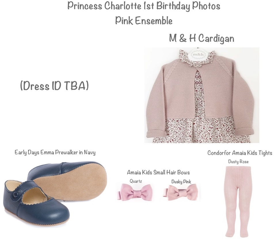 Princess Charlotte First 1st Birthday Photos Correceted two Pink Hair Bows May 1 2016