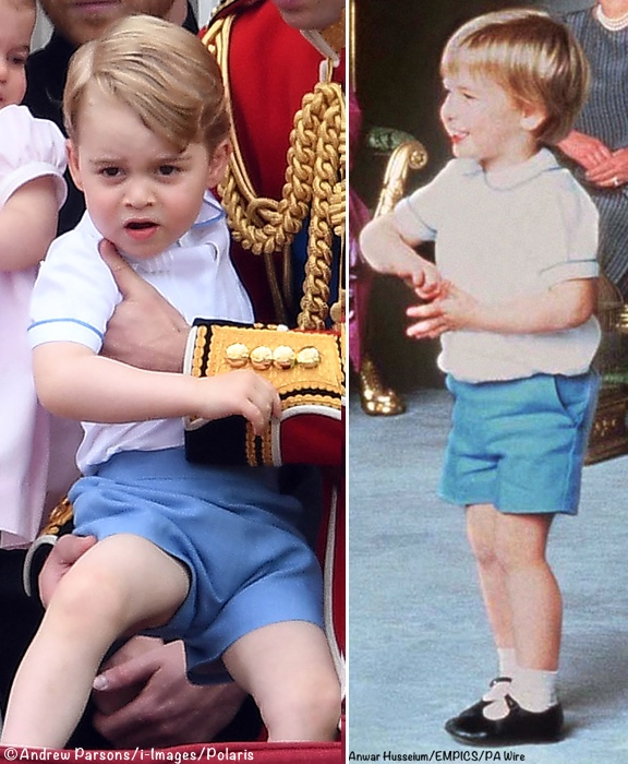 George 2016 Trooping Colour wearing William 1984 Harry Christening Outfit Polaris PA Wire June 11 2016