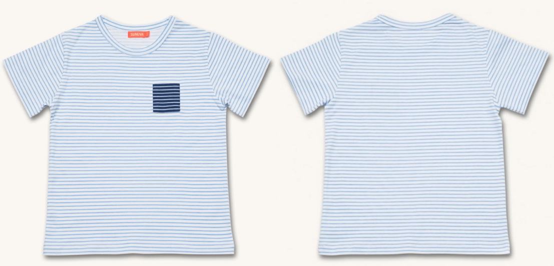 George 3rd Birthday Sunuva Blue White Striped Tee Product Shot July 22 2016