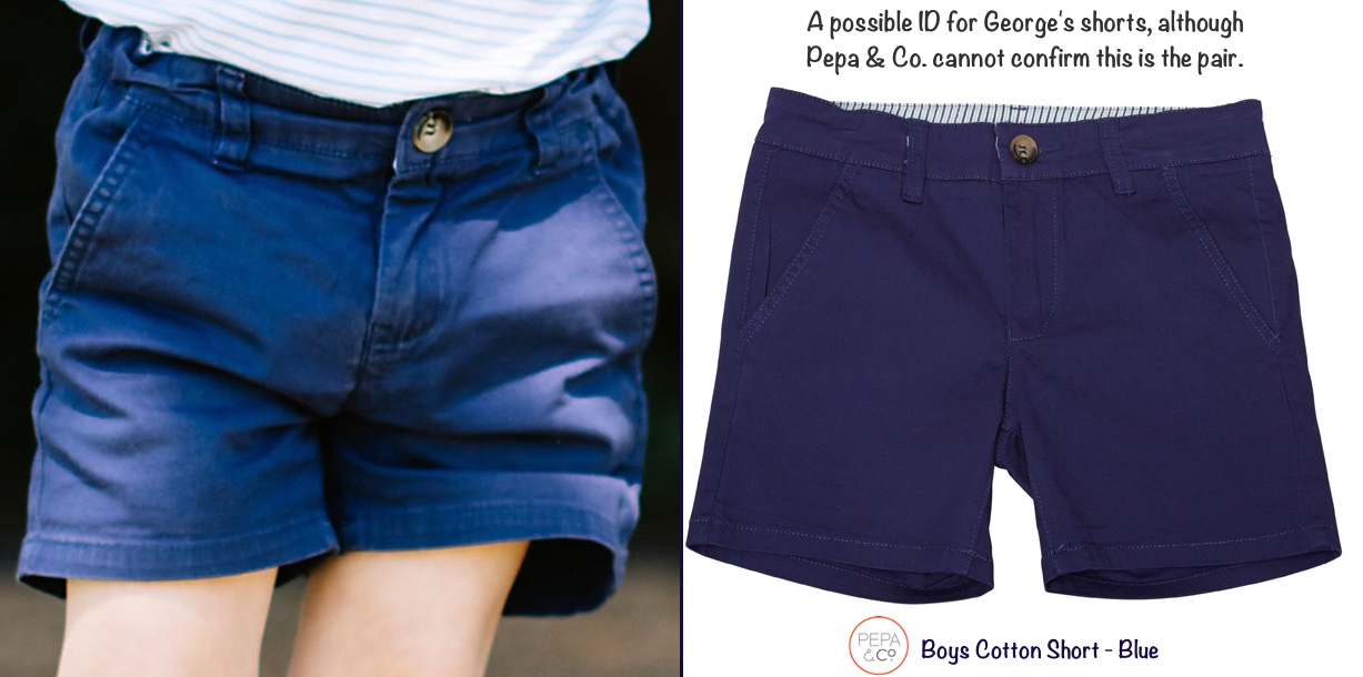 George Shorts 3rd Birthday Photos Side by Side Pepa Company Boys Cotton Short Blue July 25 2016