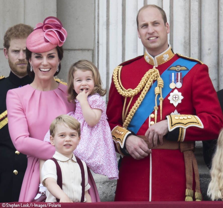 George Charlotte Kate William Trooping Colour 2017