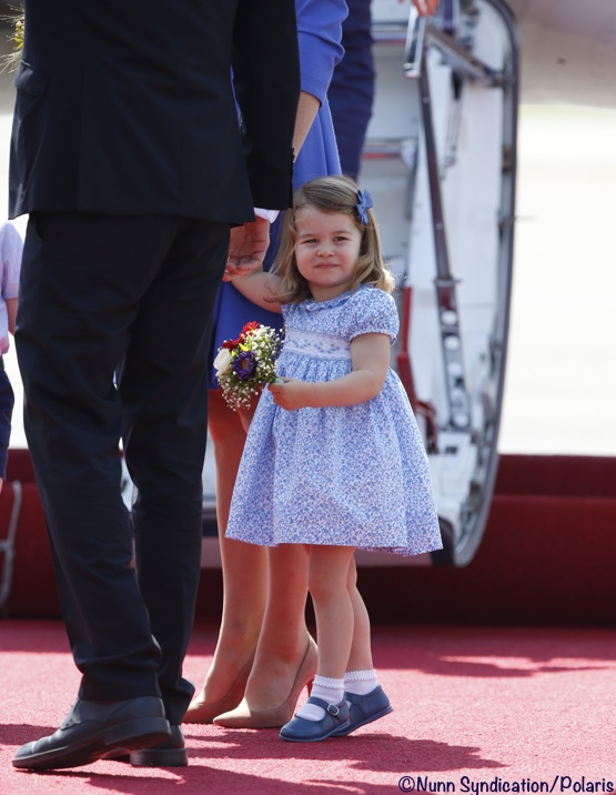 Princess Charlotte Royal Tour Blue Dress Pictures