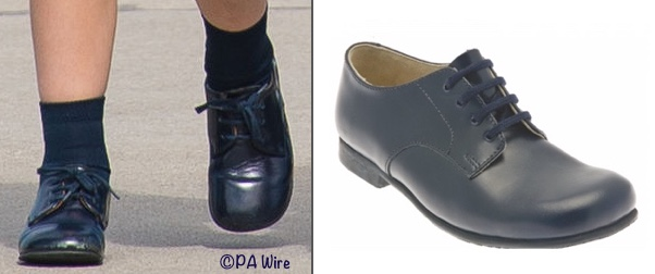 Prince George Navy blue lace up shoes what George wore start rite tour