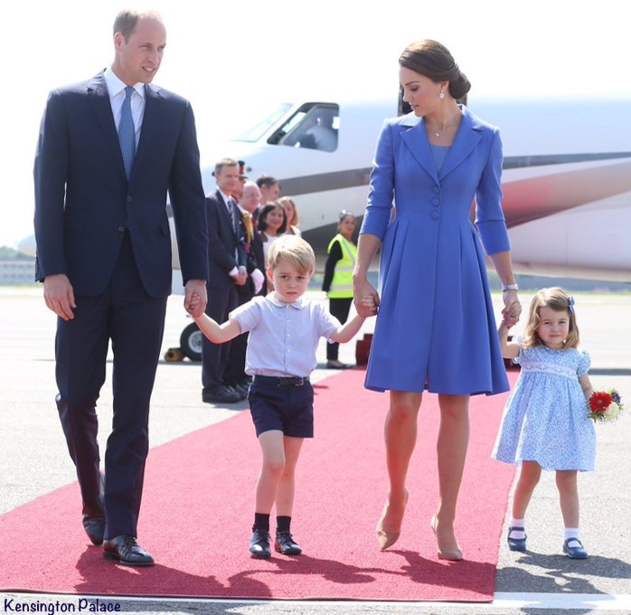 Princess Charlotte Germany Airport Tour Prince George Kate Middleton royal tour