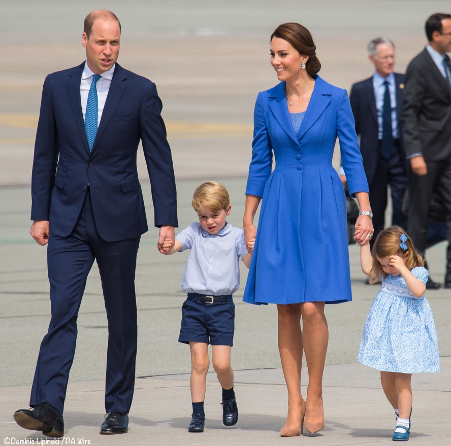 Princess Charlotte Prince George tour poland germany blue dress pictures