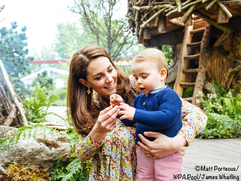 db63749624b0 Prince George, Princess Charlotte and Prince Louis looked like they had a  terrific time today when enjoying a sneak peek at the Chelsea Flower Show.